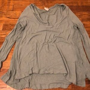 Jade/light green free People thermal long sleeve